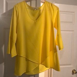 Yellow bell sleeved Blouse